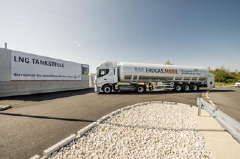 LNG-Tankstelle im Ennshafen