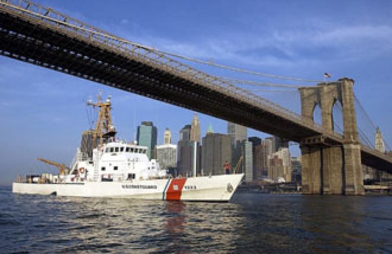 US-Küstenwachboot vor New York